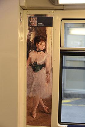 """Détail repris, """"une danseuse"""", de la classe de danse de Degas."""