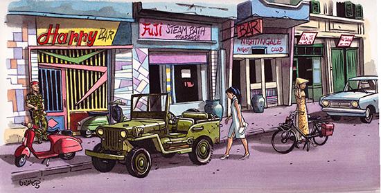 Le style SPIROU à Saigonb en 1967- Truong 12-2013 H22 X L44 CM 300 dpi