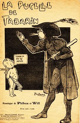 Petit format Illustré par Léon Pousthomis, ce monologue de Plébus et Will s'inscrit dans la série Les Antineurasthéniques monologues rabelaisiens, publié par Marcel Labbé, installé rue du Croissant, Paris IIe.