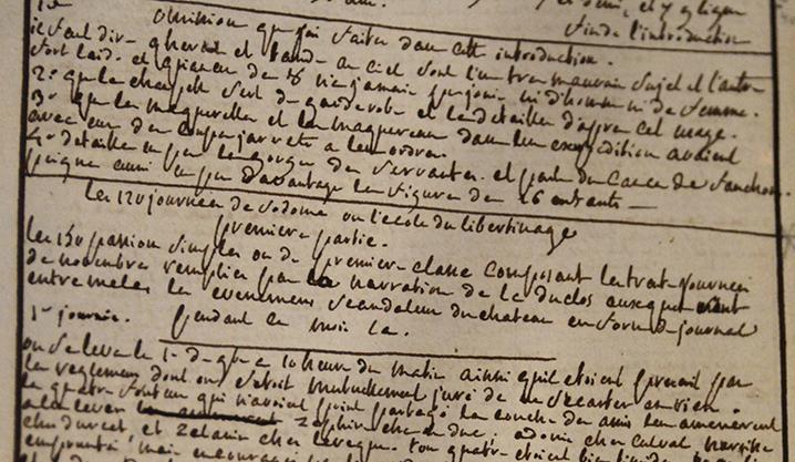 Sade le retour les 120 journ es de sodome ou l cole du - Le salon du manuscrit ...