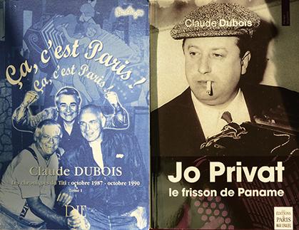 Deux des ouvrages de Claude Dubois.