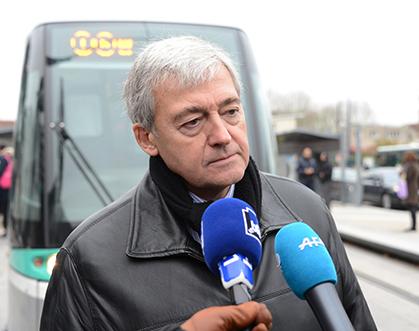A la station Georges Pompidou, Pierre Mongin répondait à quelques questions.