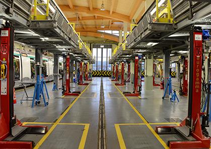 le site de maintenance et remisage à Vélizy --Villacoublay.