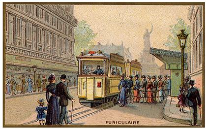 Les transports parisiens avaient leurs séries d'images pour les enfants. Ici au départ à République.