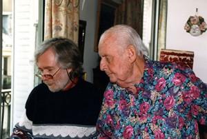 Philippe Baudoin et Stéphane Grappelli. (Doc. Adjam)