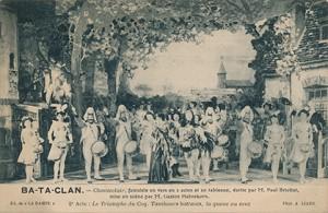 Chanteclair est une fantaisie en vers, 2 actes, 20 tableaux de Paul Briollet mise en scène Gaston Habrekorn.