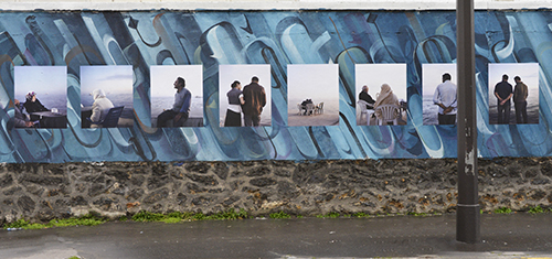 """Aglaé Bory """"Les mers intérieures"""", mur rue d'Aubervilliers."""
