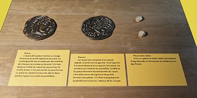 Des panneaux placés à la hauteur des enfants leur permettent de découvrir les spécificités de cette exposition. Ces panneaux tactiles sont aussi en braille.