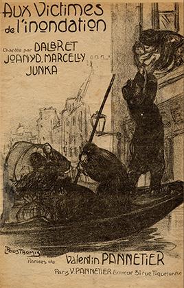partition vendue pour venir en aide aux victimes de l'inondation de 1910