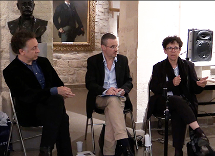 Philippe Coen, Emmanuel Pierrat et Annette Wieviorka, le 26 mai