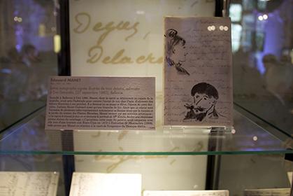 Lettre autographe signée d'Eugène Manet.