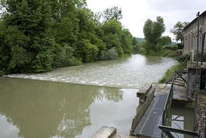 La chute d'eau, fin mai 2013.