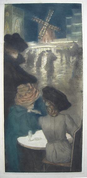 Alfredo Müller, 1900, place Blanche Trois femmes.