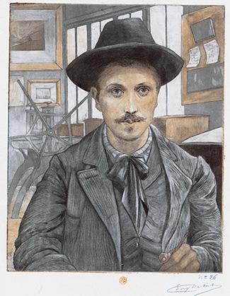 Eugène Delâtre, autoportrait.