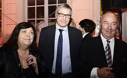 Dominique Marny, Pascal Fulacher et Gérard Lhéritier président du Musée