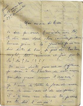 Lettre d'amour d'Edith Piaf. (coll. privée/Musée des Lettres et manuscrits)