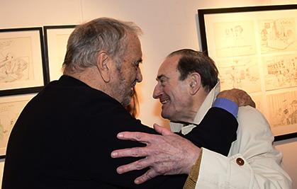 Jean-Claude Carrière accueille Pierre Etaix.