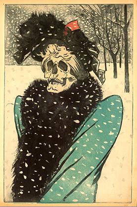 La mort en fourrure peint vers 1897, une allégorie de la syphilis qui faisait des ravages en cette fin de XIXe siècle.
