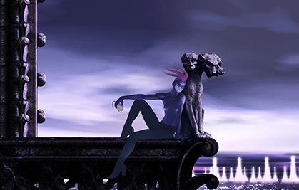 Karna, seule.