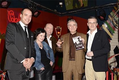 Fabien Chartol p.-d.g. du Balajo, Elisabeth Lévy, Dominique Jamet, Claude Dubois le lauréat et Emmanuel Pierrat.