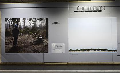 """Marc Wendelski : """"Beyond the Forest"""" , une mine à ciel overt menace cette forêt;  Luca Lupi : """"Landscape"""", une ligne d'horizon vue de la mer."""