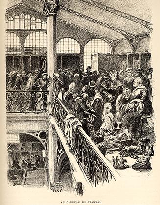 La vente sur le Carreau vers 1890.