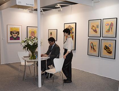 Une galerie espagnole : Alvare Alcazar (Madrid) offrait un focus sur les créations d'Eduardo Arroyo.