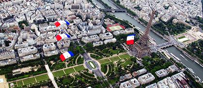 Du Champs de Mars à la Concorde.