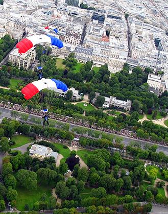 Au dessus  des Champs-Elysées.