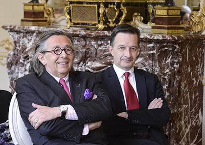 Hugues de Sade et Thibault de Sade présents pour la présentation à la presse ont souligné « il y a toujours eu une chape de plomb autour du Marquis dans la famille… »