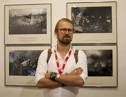 L'ukrainien Maxim Dondiuk, témoin des événement de la place Maïdan.