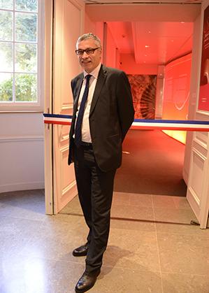 Le conservateur Pascal Fulacher, co-commissaire de l'exposition.
