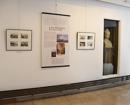 Dans la salle consacrée à la mission d'Egypte, on peut voir le buste du baron Taylor (plâtre)  d' Evariste Fragonard.