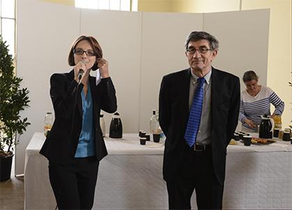 Célia Blauel et Jean Papoul, lors de l'inauguration le jeudi 2 octobre 2014