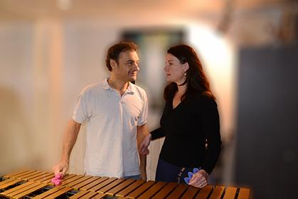 Un vrai duo qui unit le piano et le vibraphone.