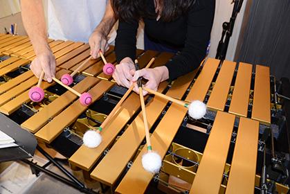 Le vibraphone appartient à la famille des percussions.  Il existe peu de partitions en musique classique pour cet instrument.