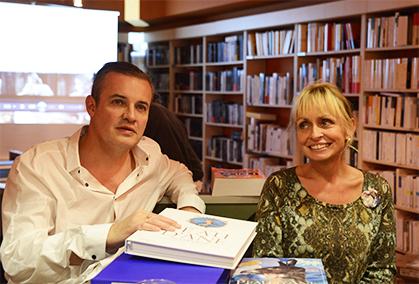 Les deux auteurs, Rosalie Varda-Demy et Emmanuel Pierrat.
