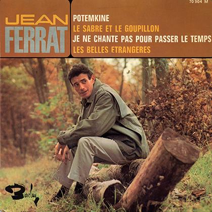 """Jean Ferrat sera interdit de promotion dans l'émission """"Tête de Bois"""" d'Albert Raisner et Télé Dimanche de Raymond Marcillac."""