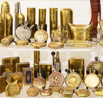 collection particulière de briquets de poilus.