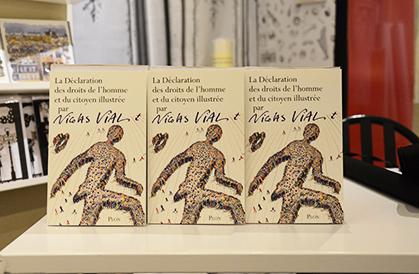 Le livre de Nicolas Vial en vente sur place.