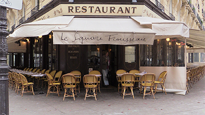 La brasserie du square Trousseau  à deux pas du marché d'Aligre.