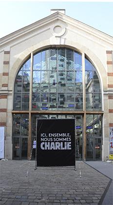 Entrée du Centquatre-Paris.
