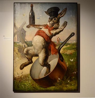 Le Lapin Agile a trouvé sa place dans l'exposition de l'hôtel Demarne.