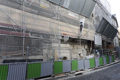 De lourds travaux ont permis de restaurer l'hôtel Demarne. Ici, côté rue, en décembre 2013.