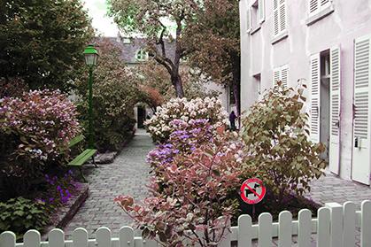 Les jardins du Musée de Montmartre.