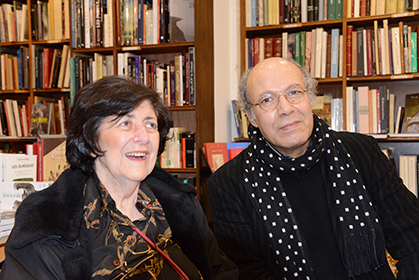 Le linguiste Salah Gemriche, auteur du dictionnaire des mots français d'origine arabe était venu saluer Hélène Walter.