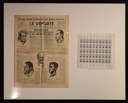 En 1958, la nouvelle série Les héros de la Résistance, consacre un timbre - Simone-Michel Lévy, une des six femmes Compagnon de la Libération.