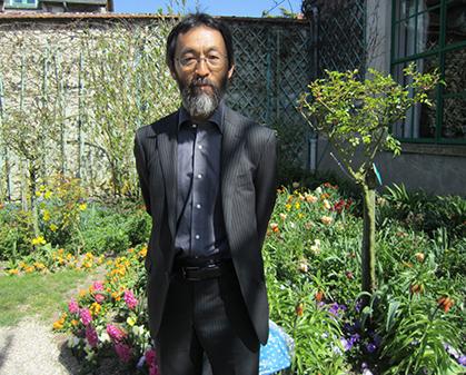 Yutaka Kawakami qui veille sur le jardin Monet au Japon à Kitagawa était en avril à Giverny. Les jardins de Kitagawa ont été créés en 1999.