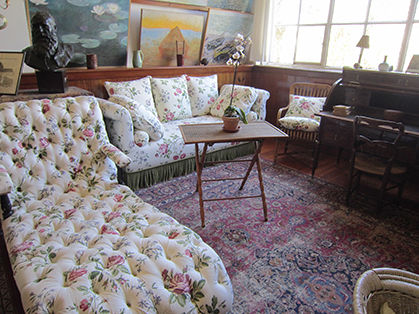Atelier salon de Claude Monet reconstitué sur les conseils avertis de Sylvie Patin, conservateur général au musée d'Orsay et correspondante de l'Académie des beaux-arts.