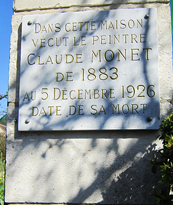419plaque monet